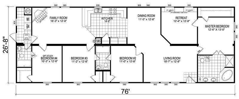 Double Wide Mobile Home Floor Plans Design Ideas ~ http ...