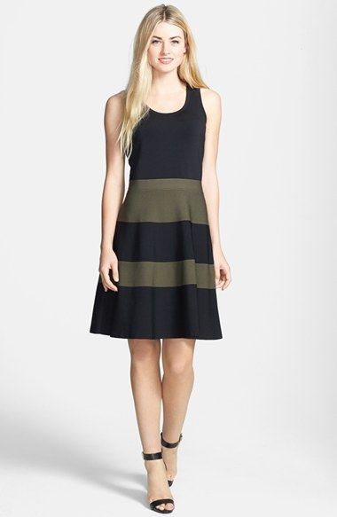 Halogen® Fit & Flare Tank Sweater Dress available at #Nordstrom