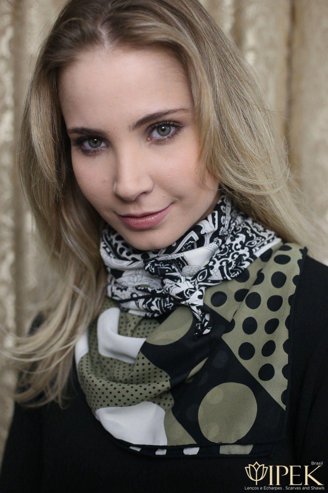 Lenço Seda Ipek Brasil | Scarves in 2019 | Silk neck scarf