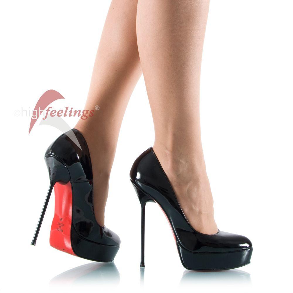 plateaupumps lackleder metallabsatz heels and pinterest pumps rote sohle und rot. Black Bedroom Furniture Sets. Home Design Ideas
