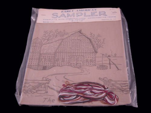 Cross Stitch Kit Early American Sampler THE RED BARN VINTAGE