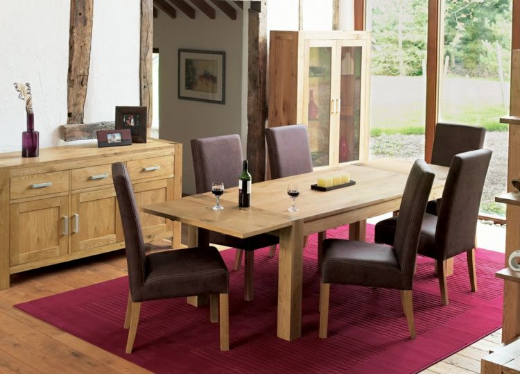 Tapis salle à manger: 50 idées pour choisir la forme | Pinterest ...