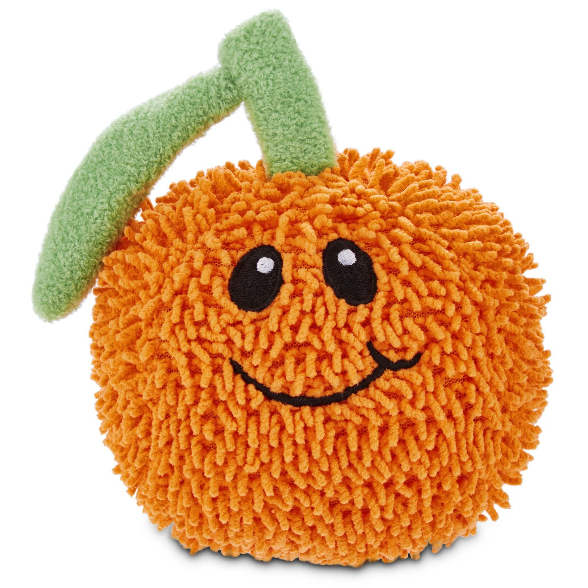 Leaps bounds orange plush dog toy petco plush dog