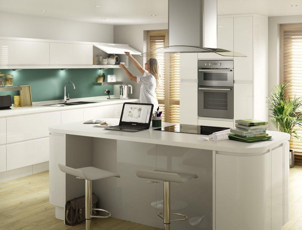 Cgi Kitchen Lifestyle Photography Of White Gloss Kitchen