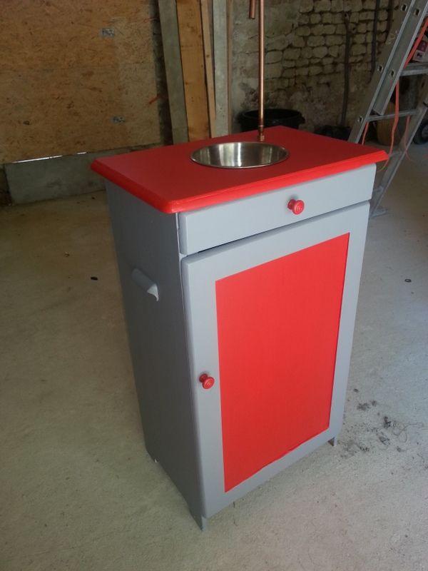 Petit meuble transform en fontaine punch mes petits for Meuble a boisson