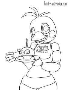 Five Nights At Freddy S Fnaf Coloring Pages Coloring Pages Coloring Pictures