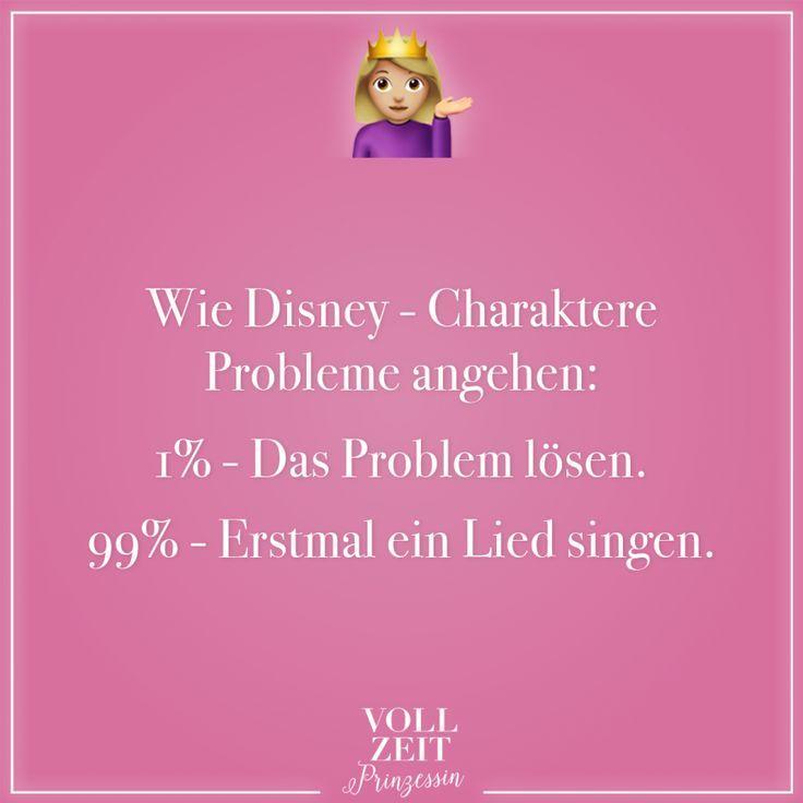 Wie Disney-Charaktere Probleme angehen: 1% - Das Probleme lösen. 99% - Erstmal ein Lied singen #howtosing