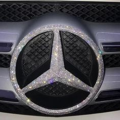 Bling Mercedes Benz LOGOFront Grille Rear Trunk Emblem Decals Made w/ Rhinestone Crystals