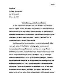 American Dream Essay Thesis Solve Global Warming Essay  Experts Opinions Topic For English Essay also Model English Essays Solve Global Warming Essay  Experts Opinions  Money And Fun  Sample Essay Proposal