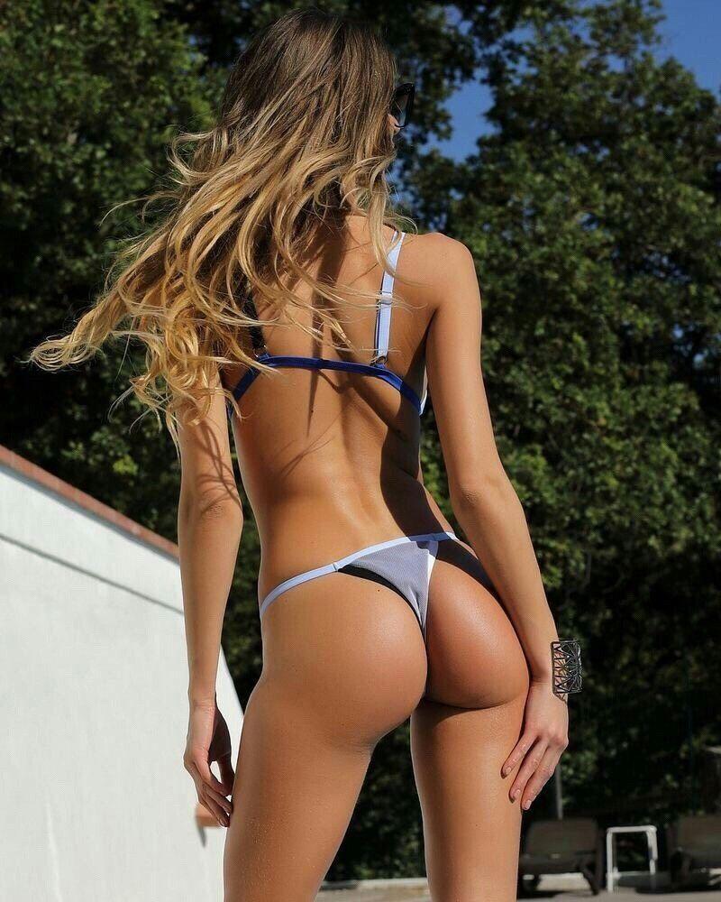 Black sexy brazilian thong bikini bottoms