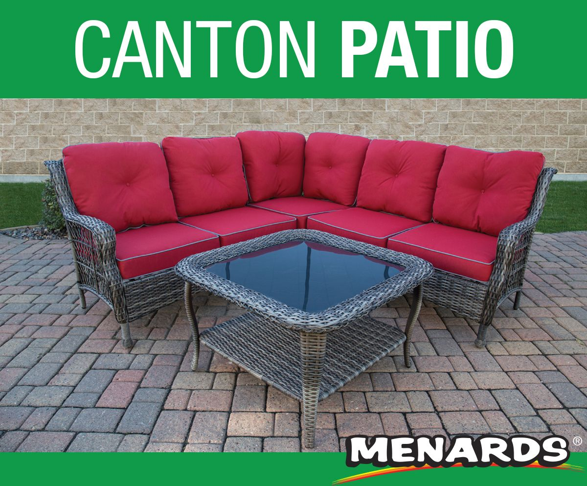 The Backyard Creations Canton Patio Sectional Comes With Table To Comple Outdoor Wicker Furniture Outdoor Furniture Covers Waterproof Outdoor Living Furniture