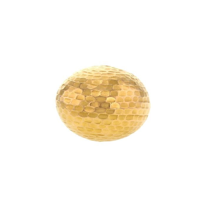 bague or jaune martele
