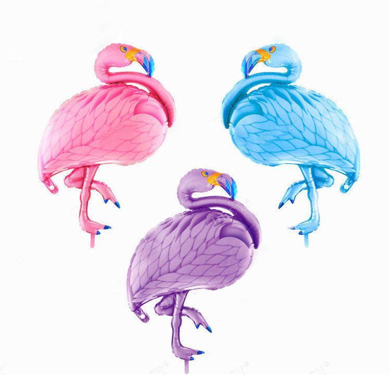 Large Bird Flamingo theme party Foil Balloon Birthday Wedding Girl Decoration
