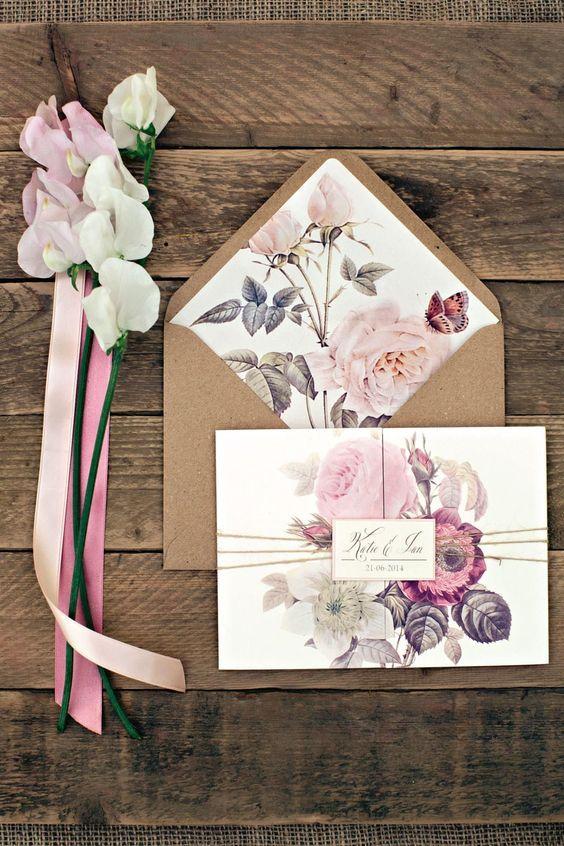 Floral wedding invitation design ideas stopboris Choice Image