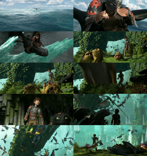 HTTYD 2. Hiccup and Toothless.