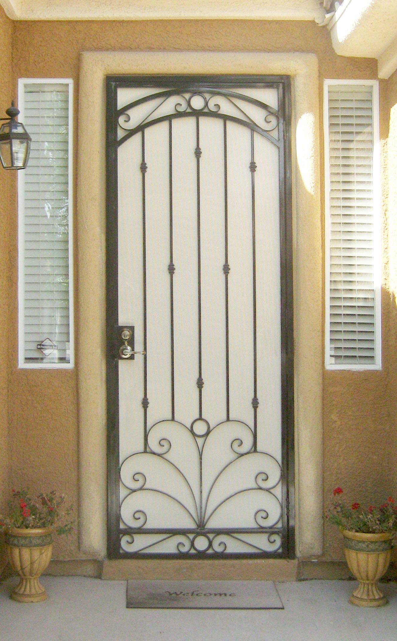 Wrought Iron Double Screen Doors Iron Security Doors Security
