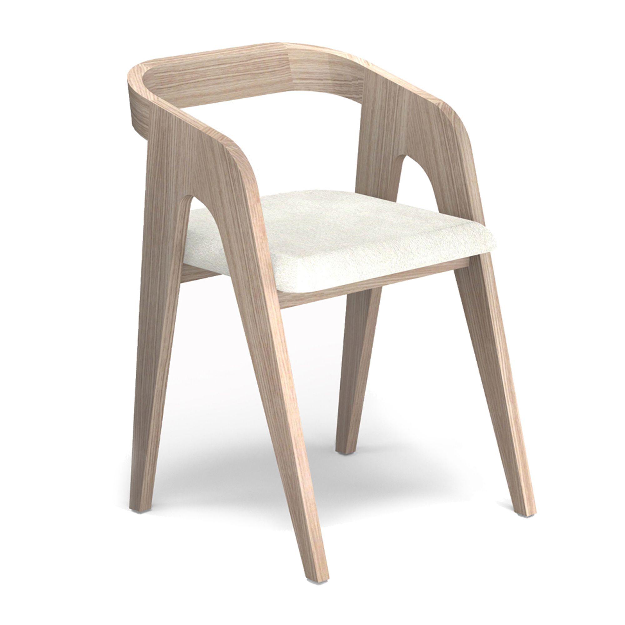 Chaise chêne blanc design scandinave haut de gamme. Meuble numéroté ...