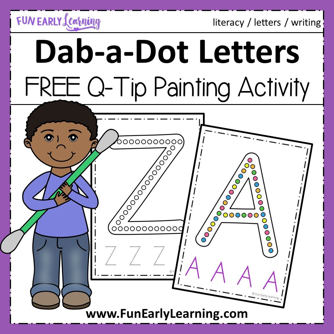 Dab A Dot Letters Q Tip Painting Fun Free Printable Preschool Activities Alphabet Activities Preschool Alphabet Preschool [ 1152 x 1152 Pixel ]