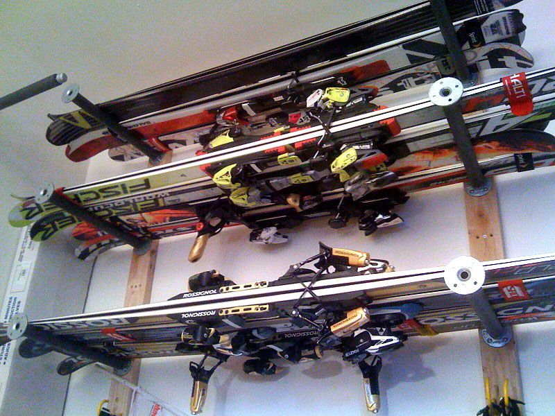 Ski Storage Ideas Fahrradraum Garage Organisation
