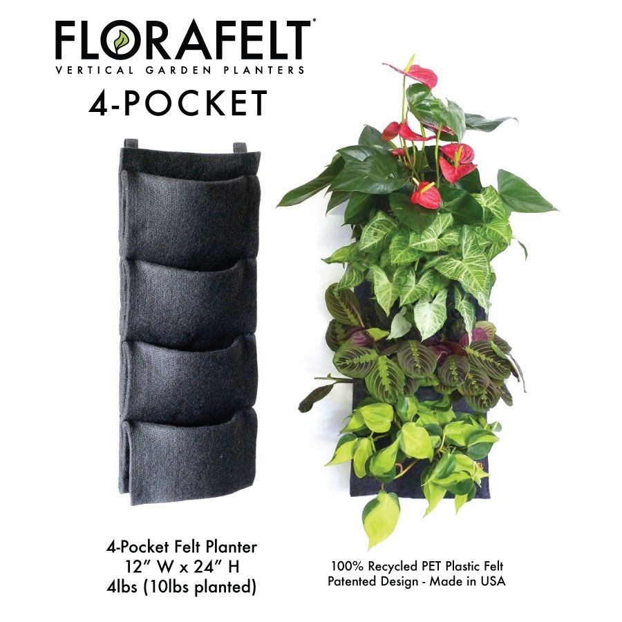 Superb Florafelt 4 Pocket Vertical Garden Planter From Plants On Walls