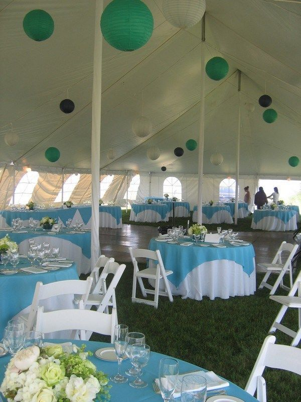 Turquoise Center Pieces For Weddings Summer Wedding Ceremony