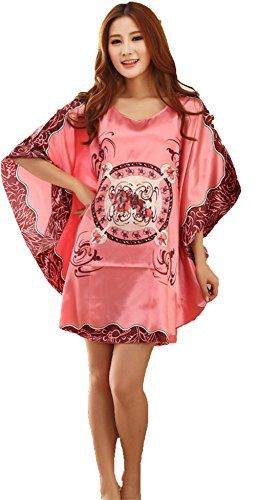 3eb69de69f Women s Plus Size Short Batwing Sleeve Pullover Sleepwear Nightgown Fabric   Material  100% Polyester (imitated silk) Hand wash