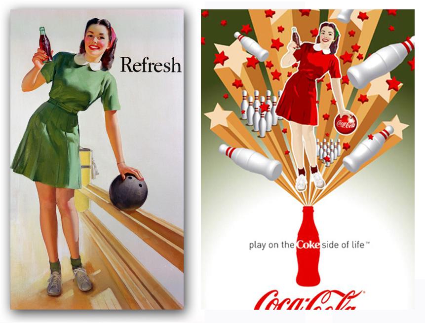 african-americans in vintage coca cola ads   Ten Pin Magic   Coca-Cola Art Gallery