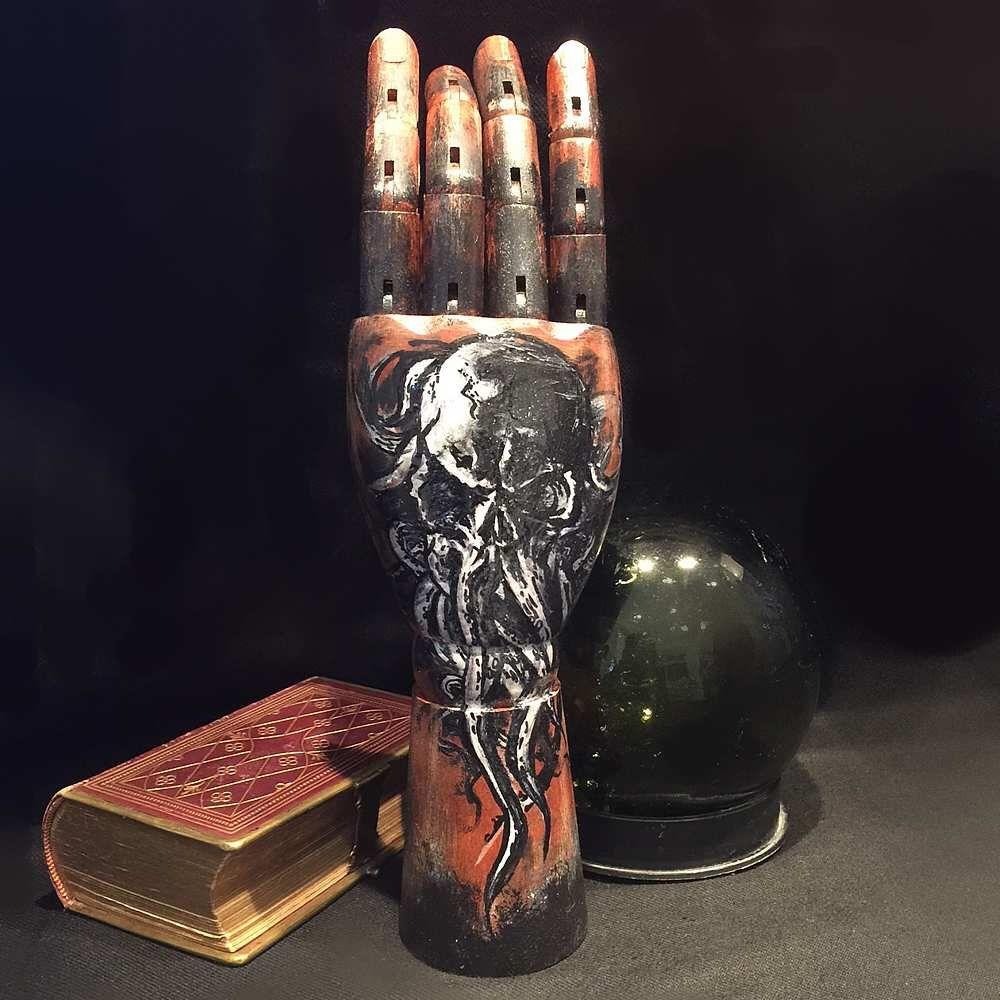 SPRING SALE 50.00 now 40.00 / Cthulu Wooden Hand Art Sculpture / Ornament / Jewellery Tree - Featuring tentacle fingers.  by HooDooVooDooArts on Etsy https://www.etsy.com/listing/217578626/spring-sale-5000-now-4000-cthulu-wooden