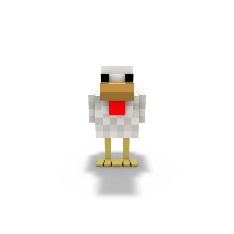 3d C4d Chicken Raptor Rig Chicken Wallpaper Minecraft Funny Minecraft Party
