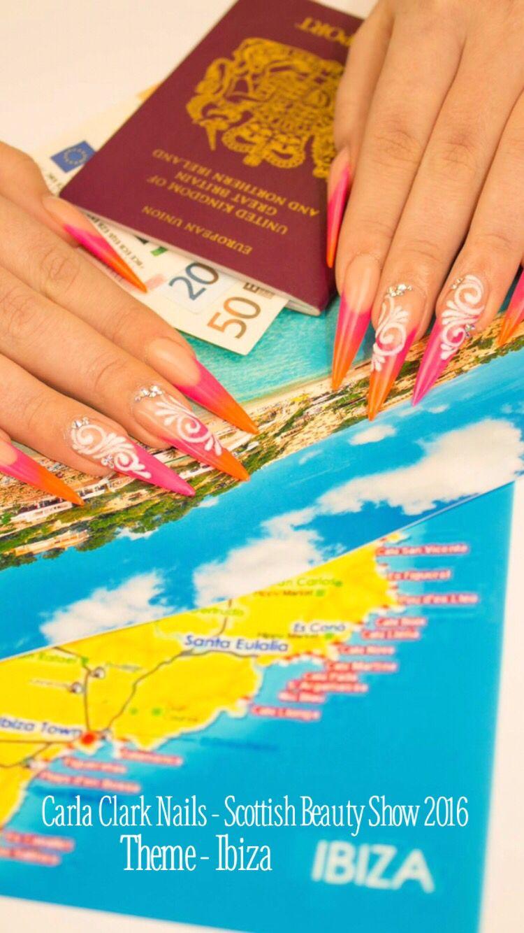 Photographic Nail Art - Scottish Beauty Show 2016 - Theme Ibiza ...