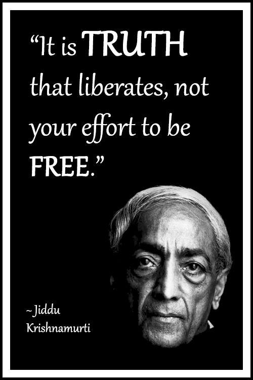 on truth krishnamurti jiddu
