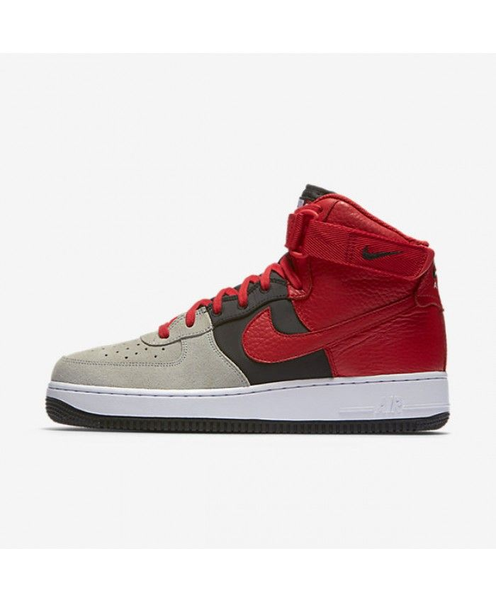 premium selection 47f8d fc901 ... shop nike air force 1 high 07 lv8 wolf grey black white university red  806403 007