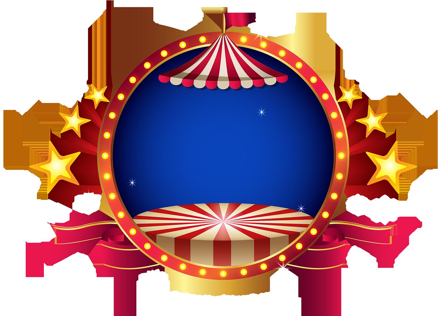 Molduras em png tema circo | Tema circo, Circo png, Festa ...