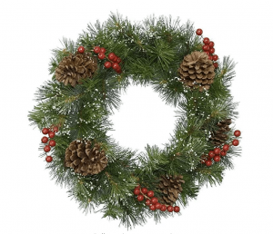 This festive Christmas wreath is under £25! This beautiful Christmas wreath is trimmed with pine cones and berries. This stunning wreath will form part of your Christmas tradition year in year out. Size 50cm. click here to buy. #AD #AF #Amazon #HomeGuideExpert #Christmas #ChristmasGifts #Xmaspresent #Xmasgift #Christmaswreath #Christmasdecorations #Christmas #xmasdecorations #Christmasiscoming #Christmastime #Christmasberries #festivewreaths #Christmastraditions #Christmasfrontdoor