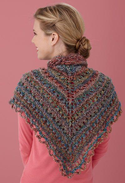 Free Knitting Pattern L0363c Splendid Triangle Shawl Lion Brand