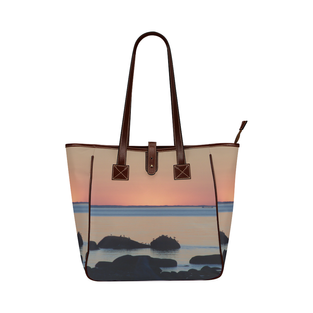 Dusk on the Sea Classic Tote Bag (Model 1644)