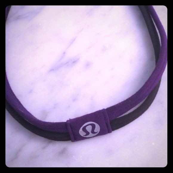 Lululemon hair band Purple and black cute headband lululemon athletica Accessories Hair Accessories