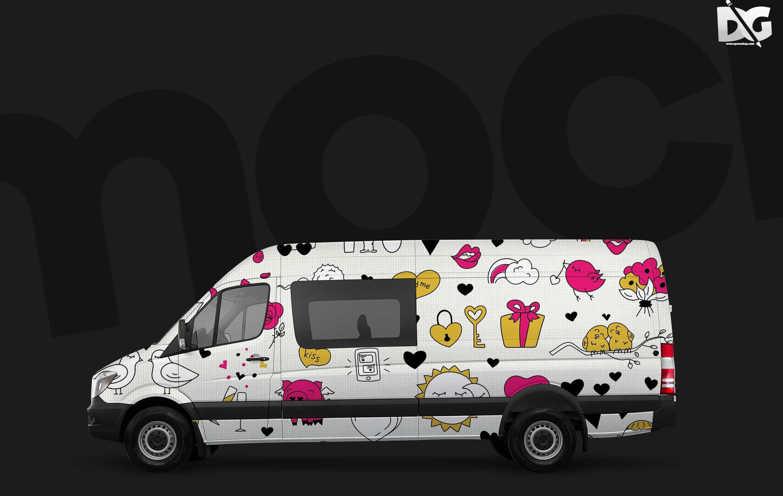 Free Premium Car Wrap Mockup Download Logo design