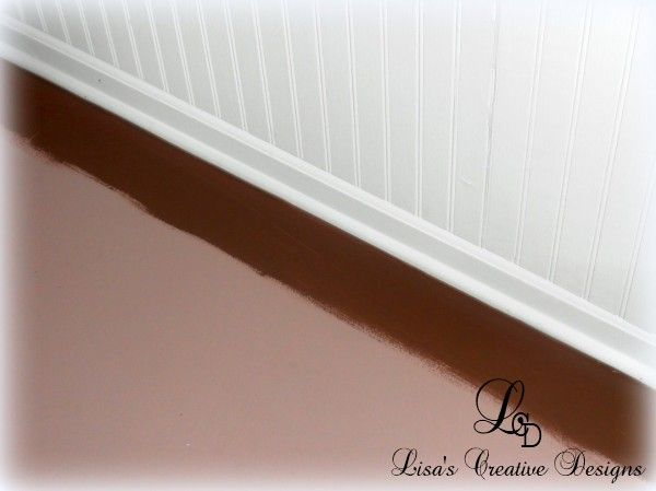 Yes You Can Paint An Old Laminate Floor Painted Plywood