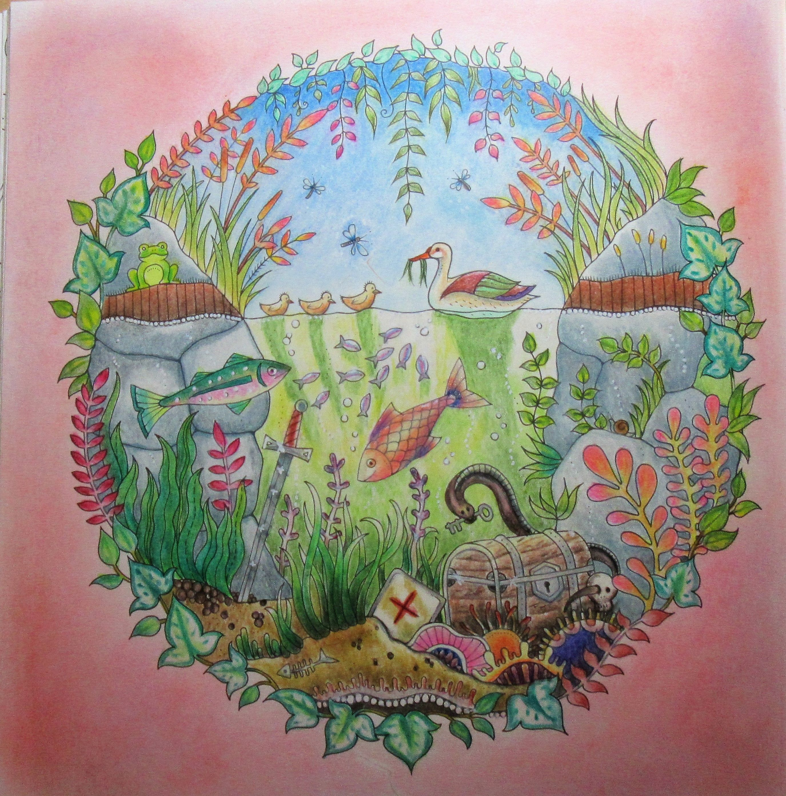 Johanna Basford Enchanted Forest Coloring Book I Colored Along With PETA Hewitt Of La Artistino
