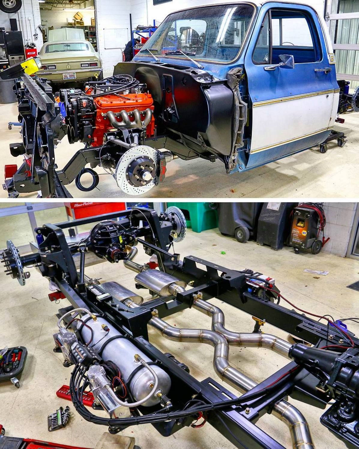 medium resolution of c notched c 10 with a nice rear end setup air compressor and a lot of other goodies