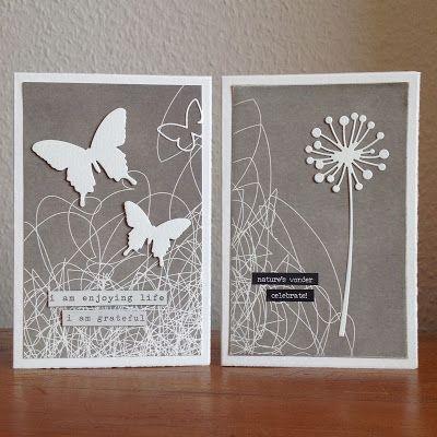 "Grüße, ""Chandra Stem"" von Memory Box, ""Butterflies"" von Sizzix, Designpapier Alexandra Renke"