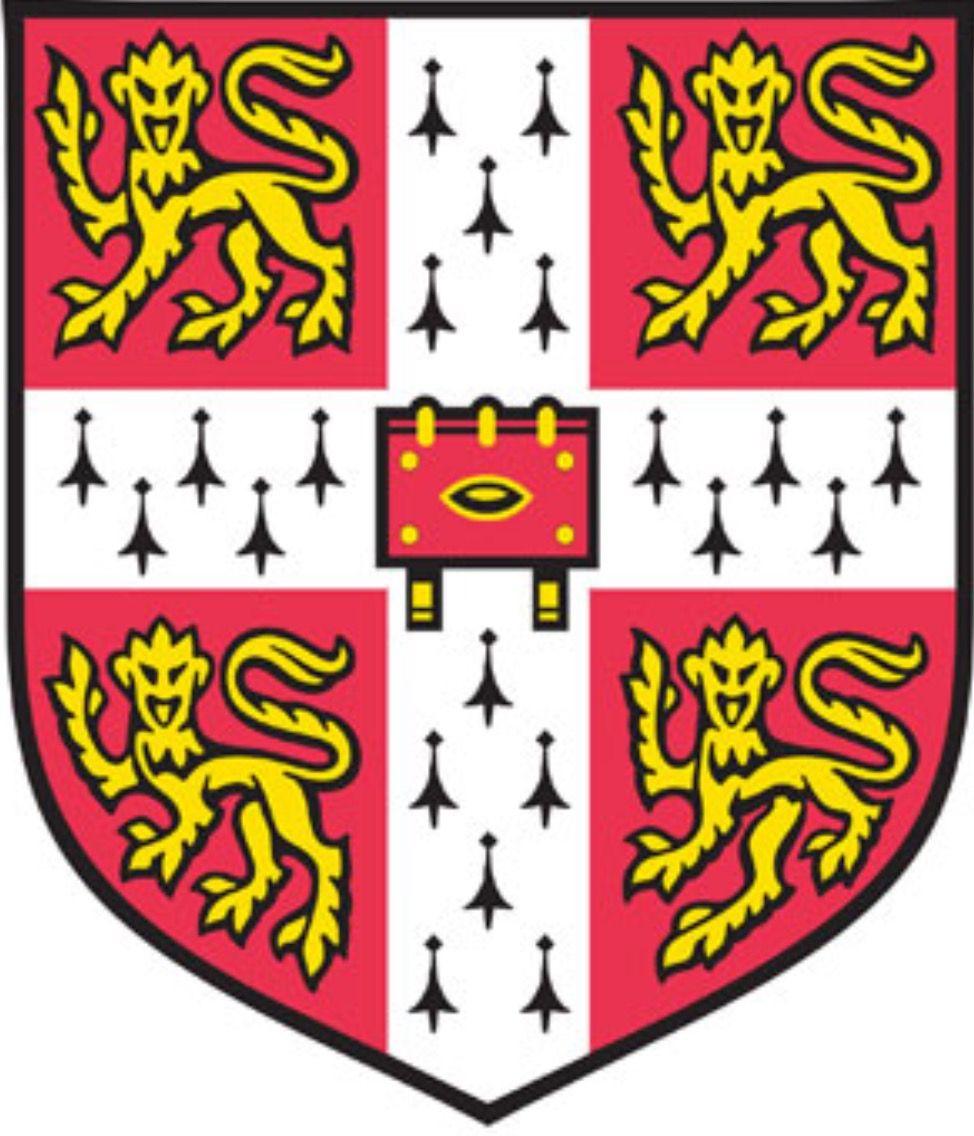 """University of Cambridge. Fundada en 1209. Su lema """" Hinc"""