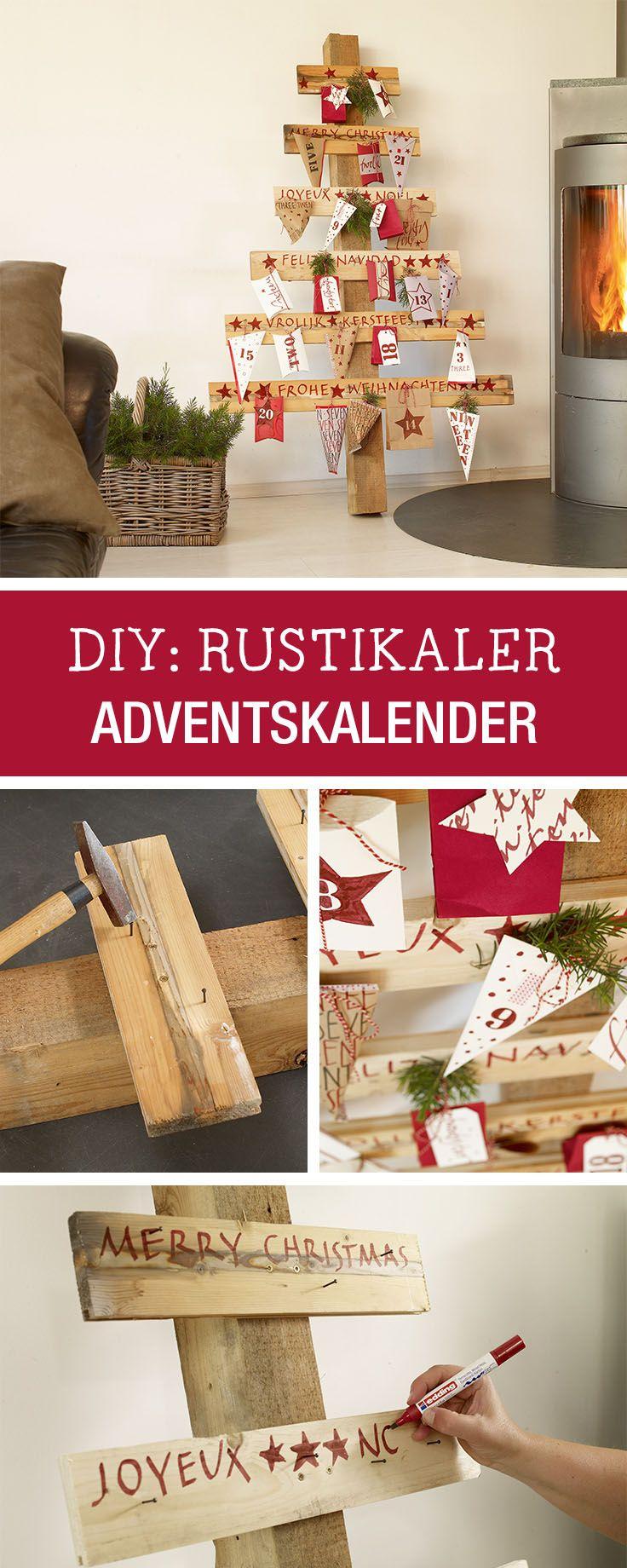 diy anleitung f r einen rustikalen adventskalender aus. Black Bedroom Furniture Sets. Home Design Ideas