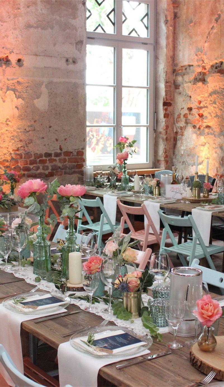 Rustikale Tischdeko Hochzeit Hochzeit Tischdeko Pinterest