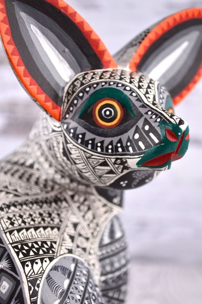 A917 Fox Alebrije Oaxacan Wood Carving Painting Handcrafted Folk Art Mexican Cra