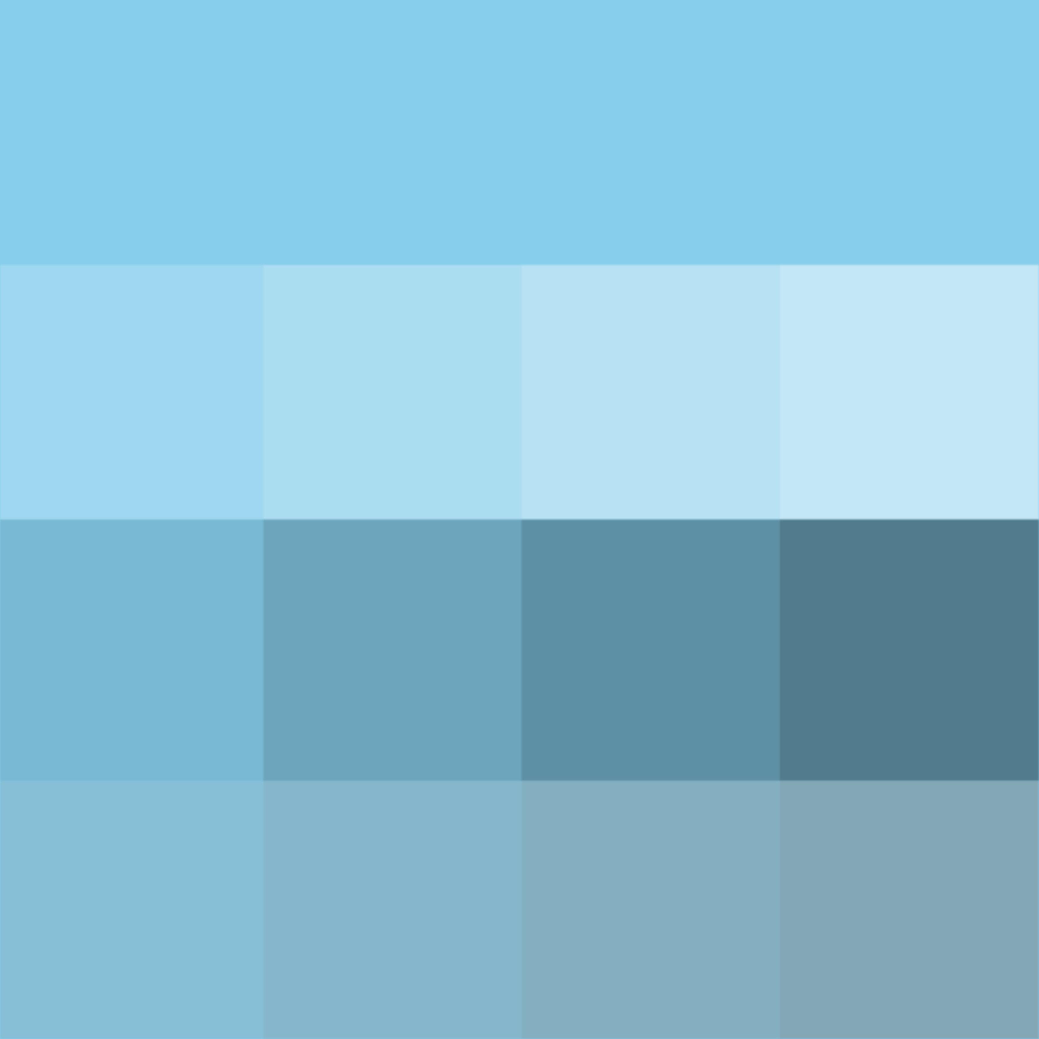 Pantone Sky Blue Hue Pure Color With Tints Hue