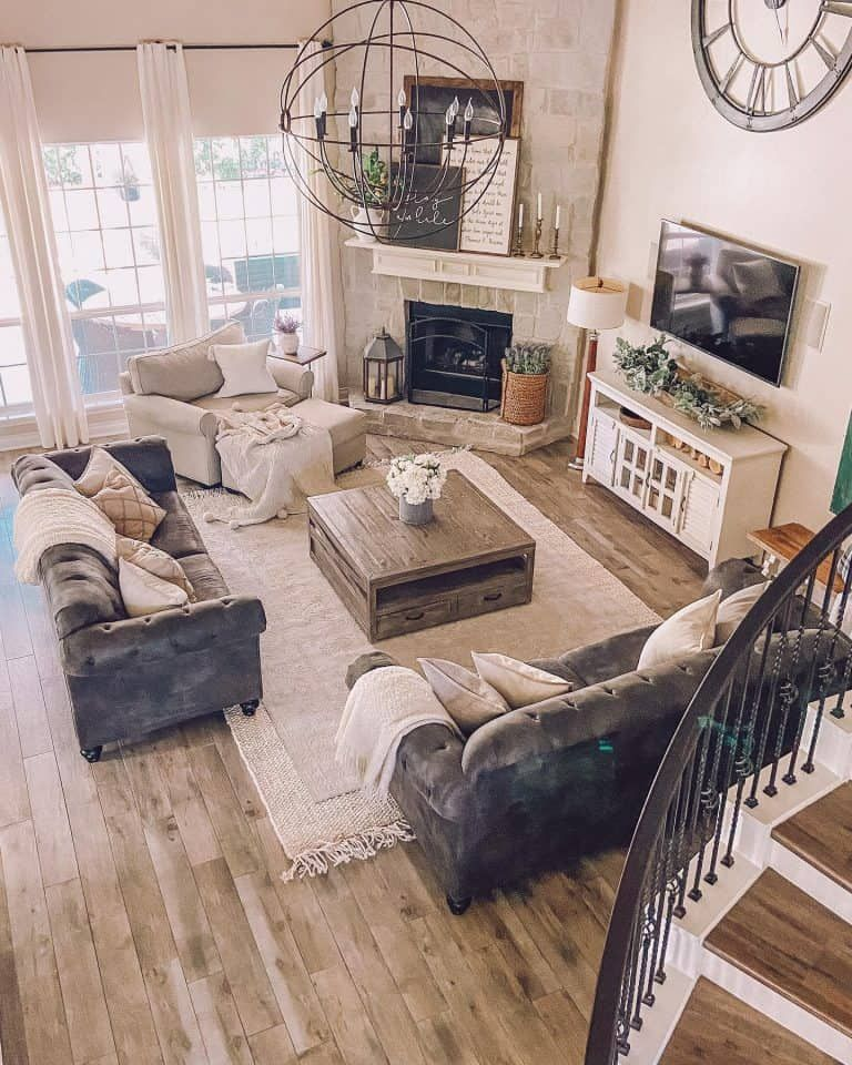 Photo of The 60 Best Farmhouse Living Room Ideas – Interior Design