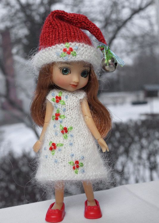 merry li l christmas hand knit and embroidered set for teeny tiny 4 rh pinterest es