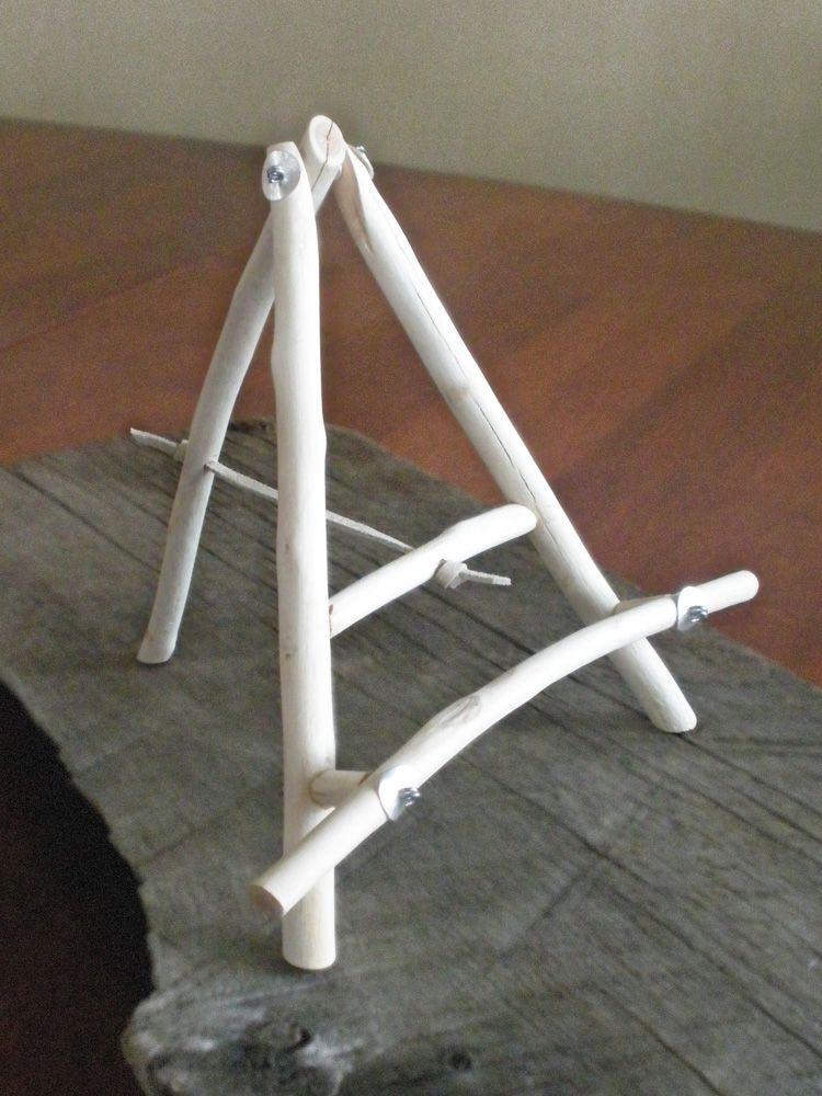 Ipad Easel ipad easel: tripod easel made from bleached aspen wood sticks